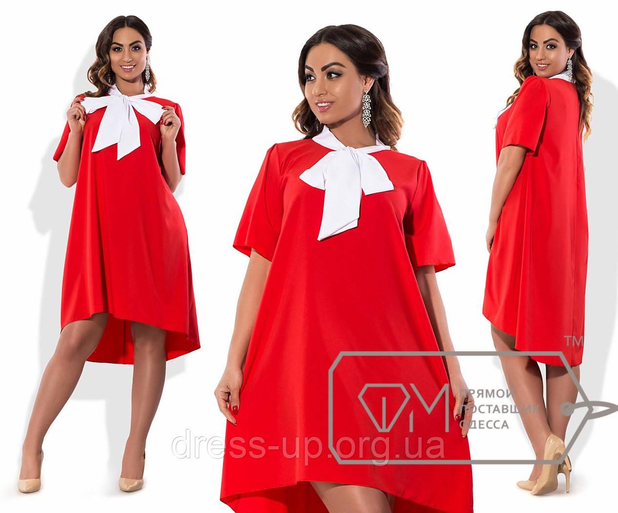 0258bfa3143e505 Платье женское красное с белой повязкой на шею VV/-1080, цена 530 ...