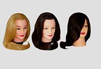 Голова учебная, искуственные термо волосы для плетения и причесок