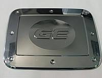 Хром-накладка на лючок бензобака Chevrolet Aveo 3  ( 2008 г.. )
