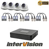 Комплект видеонаблюдения KIT-DOME 441: 4 цифровые видеокамеры 2.1 Mp Sony Exmor + видеорегистратор