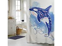 """Шторка для ванной комнаты """"Дельфин"""", 180*200 cм"""