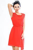 """Красное легкое платье """"Peris"""""""