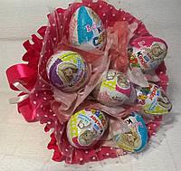 """Букет из шоколадных яиц """"Kinder surprise"""" Киндер сюрприз 7 шт"""