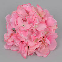 Головка гортензии 16 см розовая