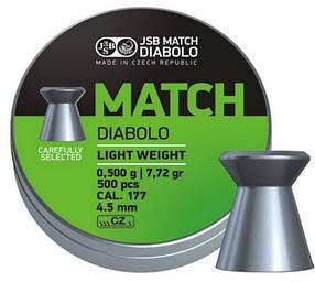 Пули пневматические JSB Match Diabolo light 4.49мм
