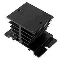 Алюминиевый радиатор для твердотельных реле SSR (черный) EE002