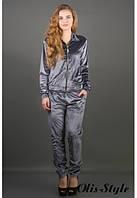 Женский серый спортивный костюм Ленди Olis-Style 44-52 размеры