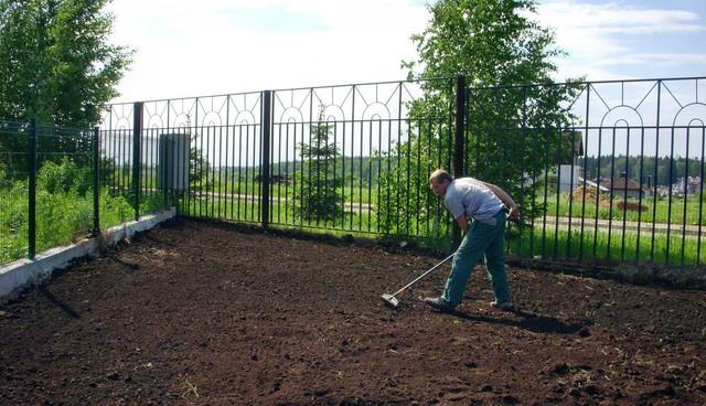 Подготовка участка к озеленению.Земляные работы.