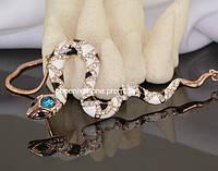 Шикарный кулон с кристаллами Swarovski + цепочка, покрытые золотом  (302031)