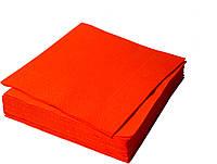 Салфетки двухслойные красные 33х33см 250шт/уп