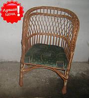 Кресло мягкое плетеное из лозы. Ручная работа!!!