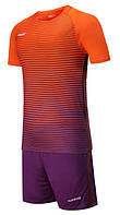 Футбольная форма игровая Europaw 013 (оранжево-фиолетовая)