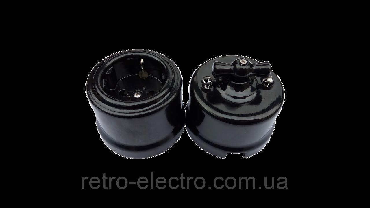 bfac4f5a9c03 Выключатель черный керамический BIRONI (двухклавишный)  продажа ...