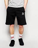 Шорты мужские Adidas Адидас черные (маленький принт)