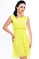 """Желтое женское платье  """"Peris""""модель 2017 г."""