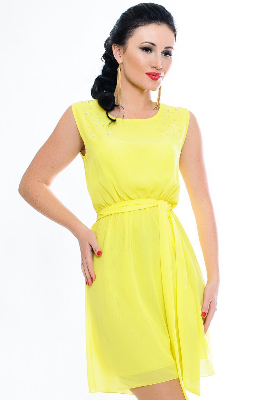 """Желтое женское платье  """"Peris"""""""