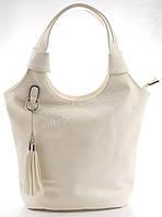 Стильная удобная вместительная женская сумка art. 9811 белая