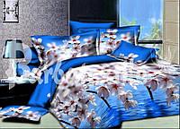 Комплект постельного белья двуспальный цвет яблони дешево