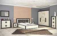 Спальня Алия два вида шкаф 3Д и 4Д, прикроватные тумбы, комод, туалетным столиком 1580см, кровать 2С