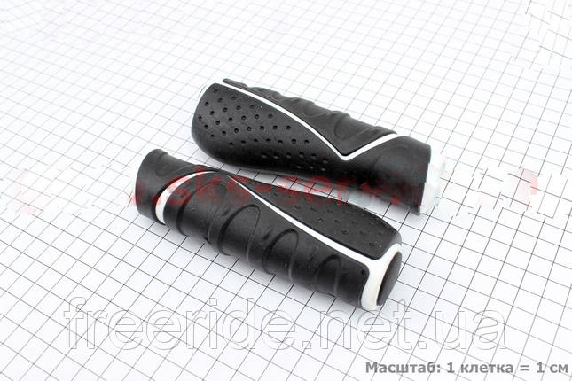 Рукоятки руля VELO VLG-709 130мм, черно-белые, фото 2