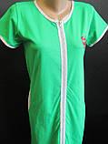 Женские однотонные халаты на молнии., фото 2