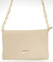 Наплечная стильная женская сумка Б/Н art. 336 бежевая