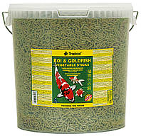 Tropical Koi & Gold Vegetable Sticks корм для прудовых рыб в палочках, 21 л, фото 1