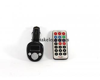 Трансмитер FM MOD. 180, FM-модулятор с зарядкой  для телефона от прикуривателя и от сети
