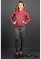 Стильные женские  лосины Тиана меланж Olis-Style 44-52 размеры