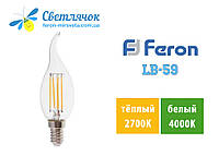 Светодиодная лампа свеча Е14 4W Feron LB-59