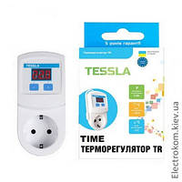 Терморегулятор в розетку Tessla TR Time, -5...+40 С, 220-230 V AC