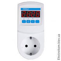 Терморегулятор в розетку Tessla TRW с недельным программатором, 0...40 С, 220-230 V AC