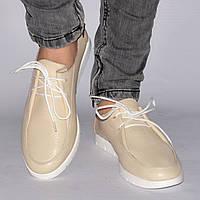 Туфли женские на низкой подошве, на шнурках, шьем по Вашим замерам в Украине, р. 36-41, 5 цветов Sev Mar S1044
