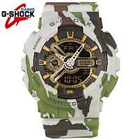 Водонепроницаемы Часы Casio G-Shock GA 110 камуфляжные, спортивные, мужские и женские, копия