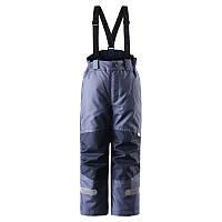 Штаны на подтяжках для мальчика LASSIE 722695 сине-серые, Размер 122