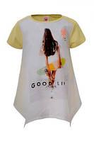 Детская футболка для девочки Glo-Story:GPO-3937 желтый