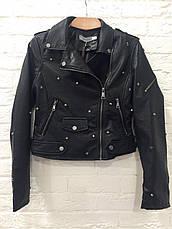 Куртка женская  кожаная черная King Kong, фото 3
