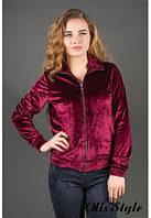 Молодежная бордовая кофта Ниона Olis-Style 44-52 размеры
