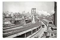 Светящиеся картина Startonight Город Нью Йорк Бруклинский Мост Декор Дизайн дома Интерьер