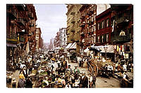 Светящиеся картина Startonight Город Старые Улицы Нью Йорка Декор стен Дизайн дома Интерьер
