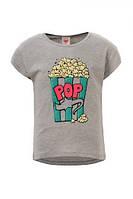 Детская футболка для девочки Glo-Story:GPO-3936 серый