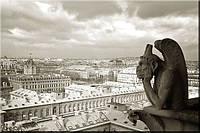 Светящиеся картина Startonight Город Париж Собор Нотр Дам Декор Дизайн дома Интерьер