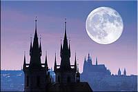 Светящиеся картина Startonight Город Прага Замок Пейзаж Декор стен Дизайн дома Интерьер