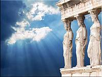 Светящиеся картина Startonight Город Афины Акрополь Пейзаж Декор стен Дизайн дома Интерьер