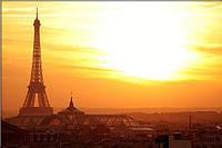 Светящиеся картина Startonight Город Париж Эйфелева Башня Декор Дизайн Интерьер