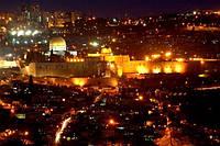 Светящиеся картина Startonight Город Иерусалим Пейзаж Декор стен Дизайн дома Интерьер