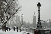 Светящиеся картина Startonight Город Лондон Зимой Пейзаж Декор стен Дизайн дома Интерьер