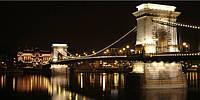 Светящиеся картина Startonight Город Будапешт Мост Пейзаж Декор стен Дизайн дома Интерьер