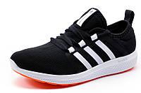 Кроссовки унисекс Adidas Bounce, черные с белым, р. 36 37 38 39 40 41
