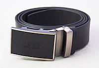 Мужской кожаный универсальный ремень под джинсы и брюки Hugo Boss, фото 1